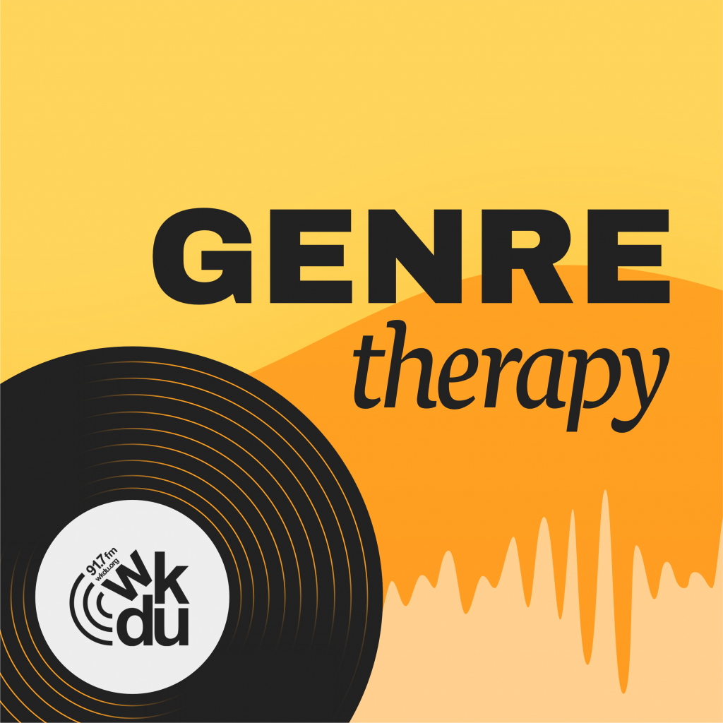 Genre Therapy Cover art with WKDU Philadelphia logo